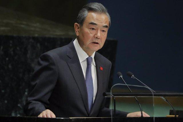 El ministro de Exteriores de China, Wang Yi, ante la Asamblea General de Naciones Unidas