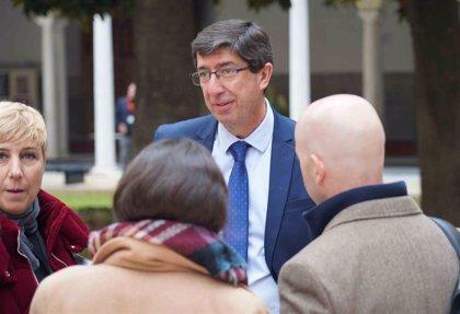 """Juan Marín afirma que Sánchez """"quiere hacer pagar a Andalucía"""" sus negociaciones con ERC """"con un 155"""" a sus cuentas"""