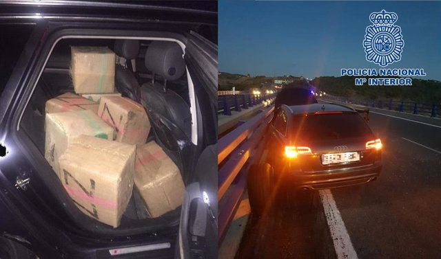 Droga incautada a e una organización de tráfico de drogas por 'Go Fast' en Cádiz, Sevilla y Huelva
