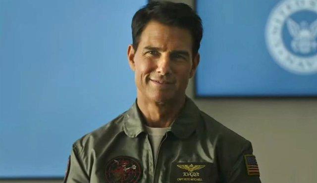 Tom Cruise en Top Gun Maverick
