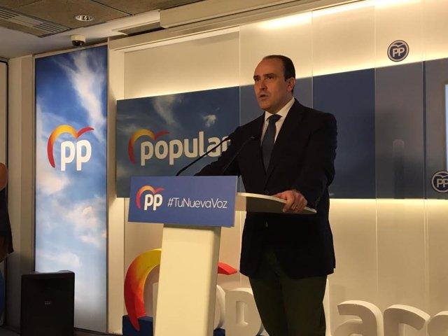 El secretari general del PP català, Daniel Serrano, en una imatge d'arxiu