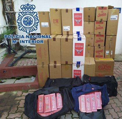 Cuatro detenidos por un presunto delito de contrabando de tabaco en La Línea (Cádiz)