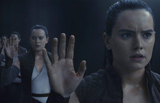 Imagen de Daisy Ridley como Rey en Star Wars: Los últimos jedi