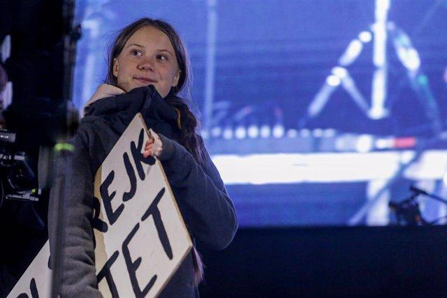 Greta Thunberg interviene en la Marcha por el Clima de Madrid