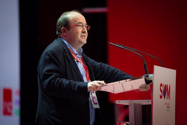 El primer Secretari del PSC, Miquel Iceta, durant el 14è congrés del seu partit, Barcelona (Espanya/ Catalunya) 14 de desembre del 2019.