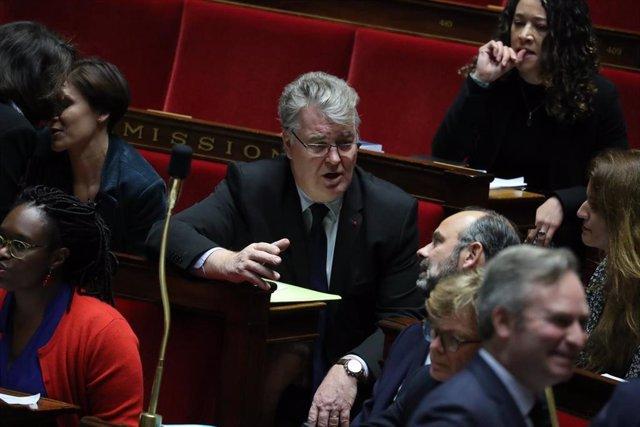 El ex alto comisionado para la reforma de las pensiones Jean-Paul Delevoye, en una sesión de control en el Parlamento de Francia