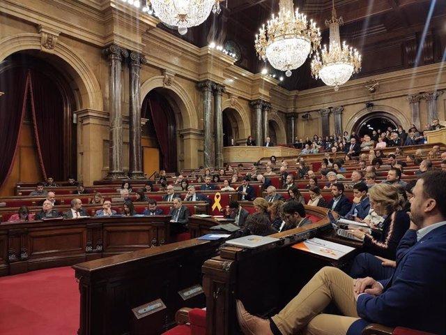 Ple del Parlament de Catalunya del 18 de desembre del 2019.