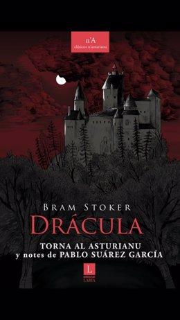 Imaxe de la portada de la versión n'asturianu de 'Drácula'.