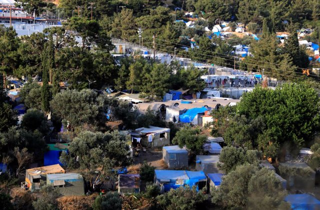 El campo de refugiados de Vathy, en la isla de Samos, Grecia