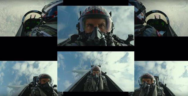 Tom Cruise durante el rodaje de Top Gun: Maverick