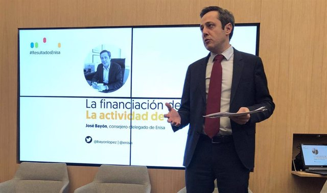 El consejero delegado de Enisa, José Bayón, en la presentación de resultados