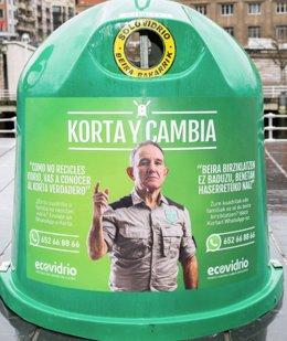 Campaña de sensibilización para el reciclaje de vidrio en Euskadi
