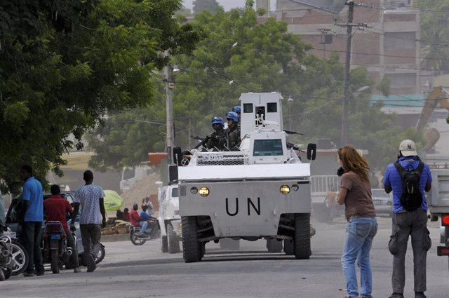 Los 'cascos azules' de la ONU en Haití.