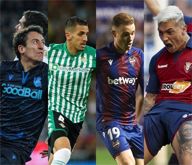 Fútbol/Copa.- (Crónica) Real Sociedad, Betis, Levante y Osasuna resuelven con go