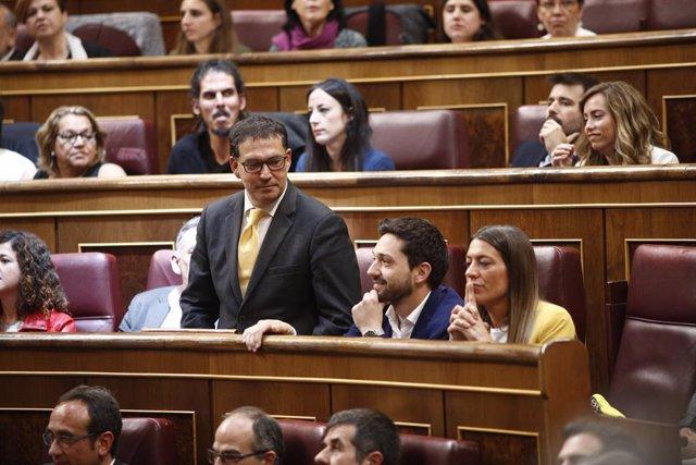 Jaume Alonso-Cuevillas (JxCat) intervé durant la sessió constitutiva de la cambra baixa.