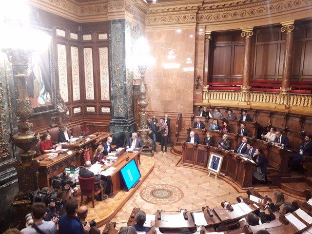 El ple de l'Ajuntament de Barcelona del 20 de desembre.
