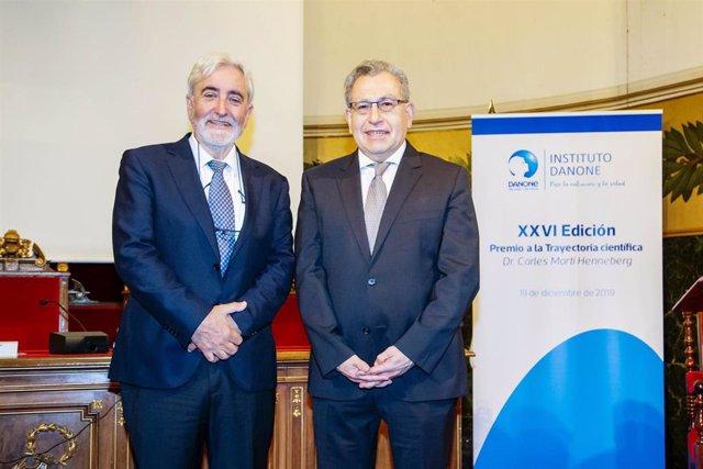 El Instituto Danone ha premiado la contribución del Dr. Andreu Palou a la investigación en nutrición con el XXVI Premio a la Trayectoria Científica Dr. Carles Martí Henneberg.
