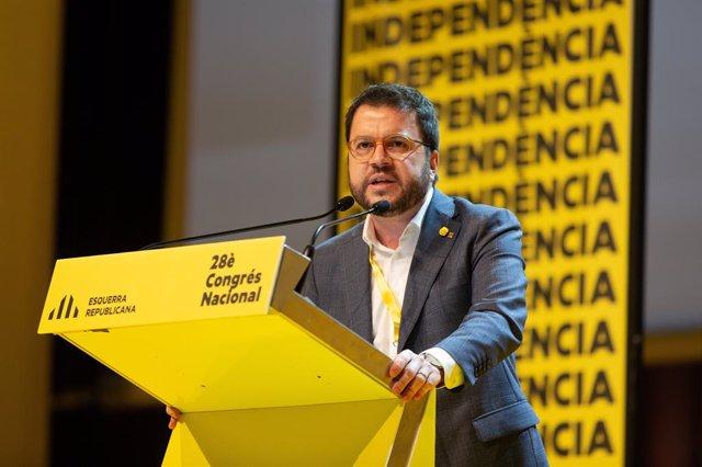 Intervenció de Pere Aragonès en el Congrés Nacional d'ERC el 21 de desembre del 2019