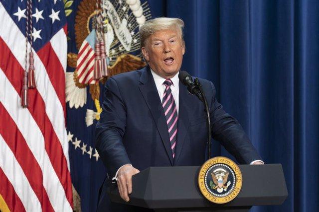 Washington, Estats Units: El president dels EUA Donald J. Trump, 19 de desembre del 2019 (Chris Kleponis/ Contacte)