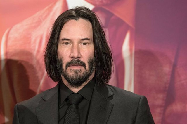 "06 May 2019, Berlin: US actor Keanu Reeves attends at a photo call for the movie ""John Wick: Chapter 3 - Parabellum"". Photo: Jörg Carstensen/dpa"