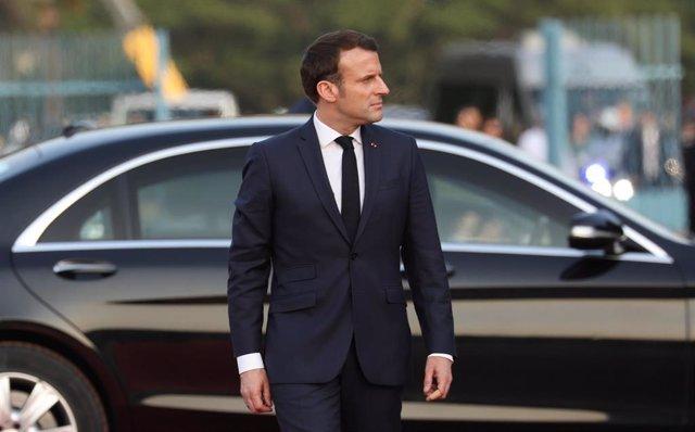 El presidente de Francia, Emmanuel Macron, visita Costa de Marfil.