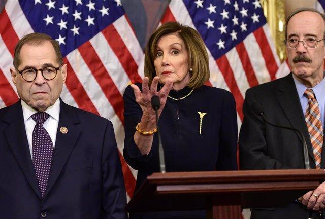 La jefa de la Cámara de Representantes de Estados Unidos, Nancy Pelosi.