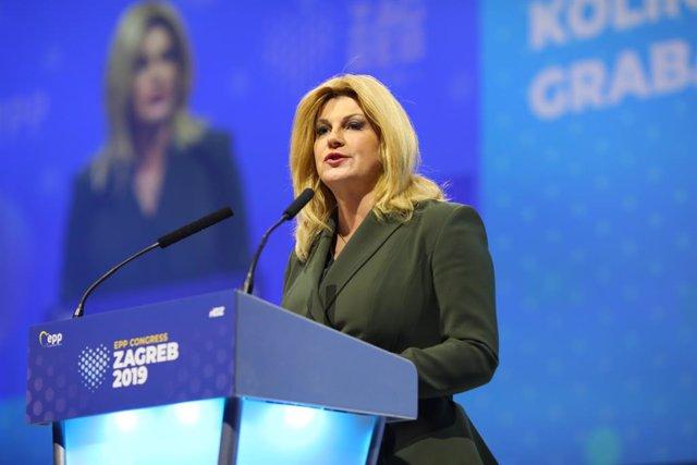 La presidenta de Croàcia, Kolinda Grabar-Kitarovic