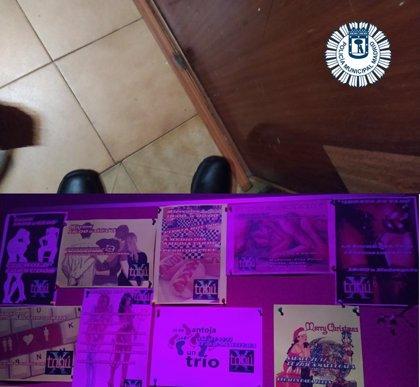 Descubren tres prostíbulos en Arganzuela con deficiencias de higiene y en los que se ofertaba orgías y 'noches hot dog'