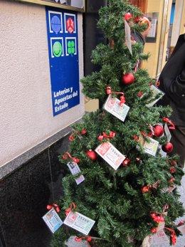 Administració de Loteria i arbre de Nadal