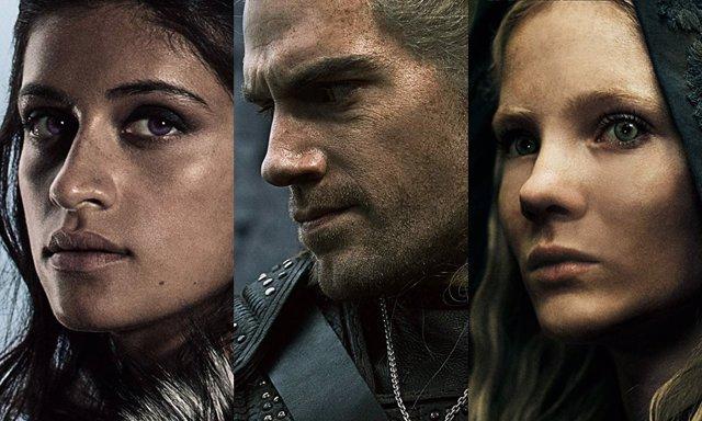 Yennefer, Geralt y Ciri, protagonistas de The Witcher