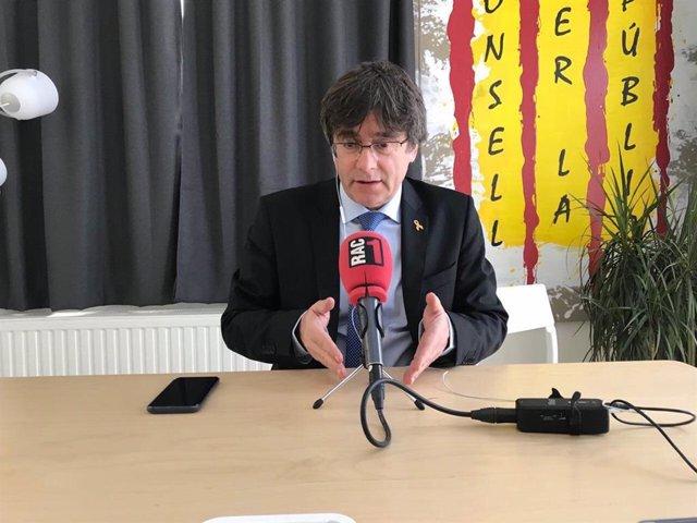 Puigdemont a una entrevista de Rac1