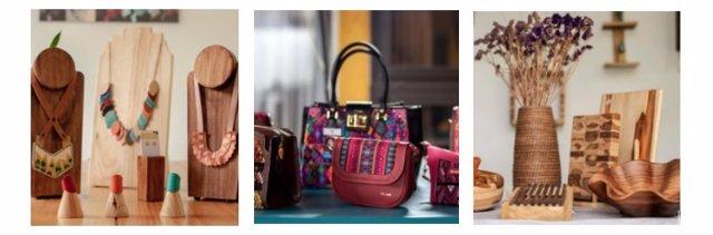 Algunos de los productos artesanos que componen el 'Hub'.