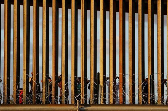 Imagen de la frontera entre México y Estados Unidos.