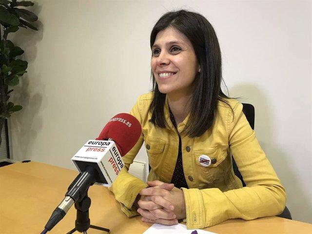 La secretària general adjunta i portaveu d'ERC, Marta Vilalta.
