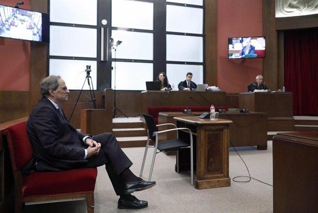 El president de la Generalitat, Quim Torra, durant dj. judici en el TSJC