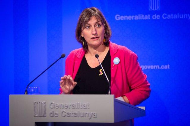 La consellera de Salud de la Generalitat, Alba Vergs