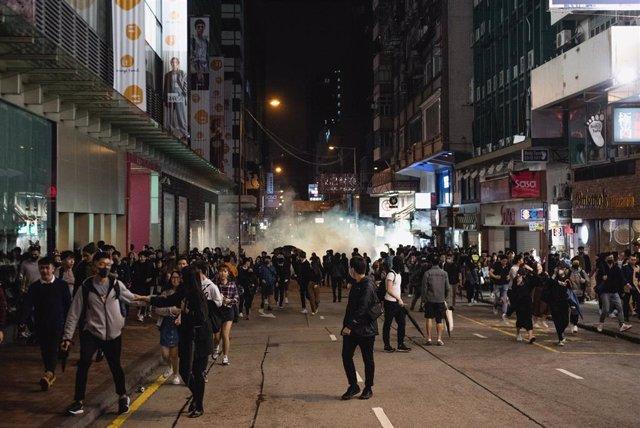 Protestas en Hong Kong en Nochebuena