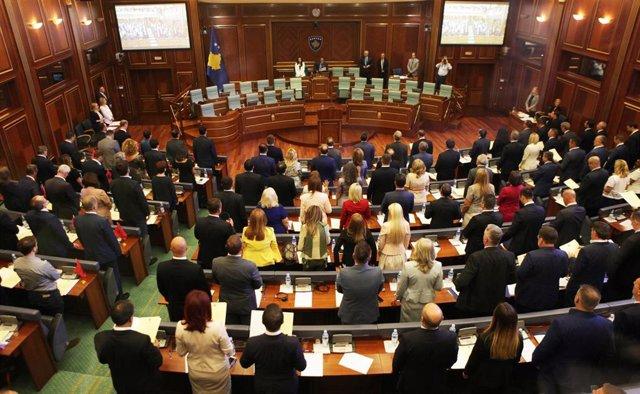 Imagen de archivo del Parlamento de Kosovo en la anterior legislatura, en 2017