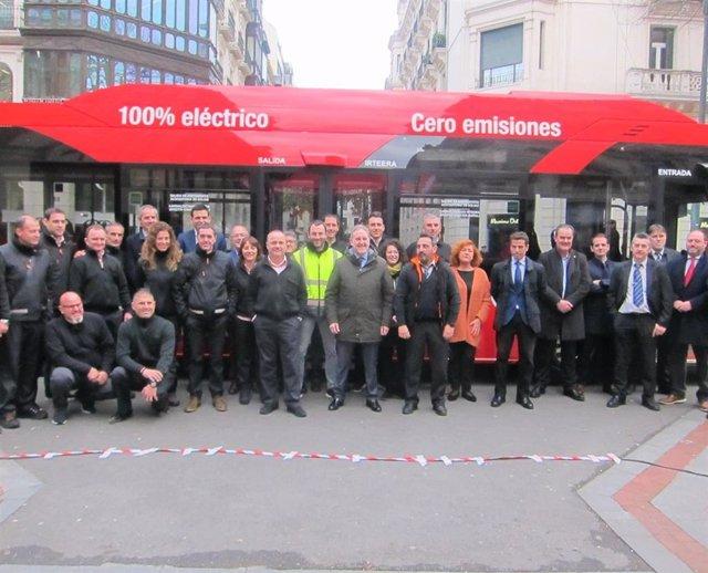 Alfonso GIl presenta los nuevos buses ecológicos de Bilbobus