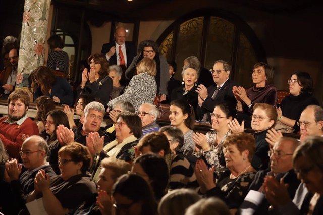 El president de la Generalitat, Quim Torra, en el concert de Sant Esteve 2019
