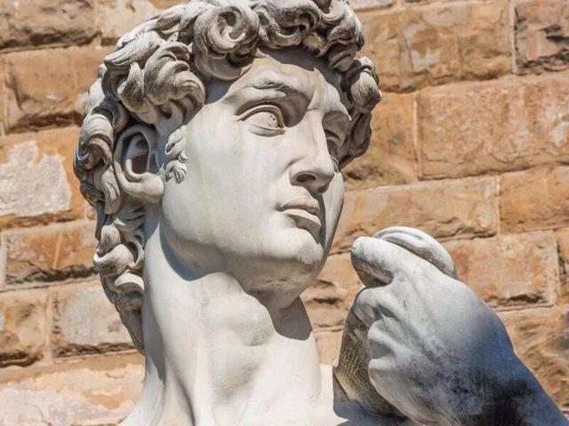 Detalle del cuello del David de Miguel Ángel