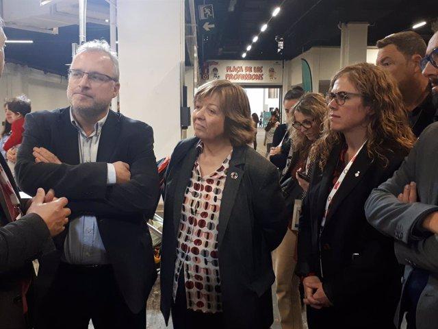 El director general de Fira de Barcelona, Constantí Serrallonga; la presidenta de La Ciutat dels Somnis, Núria Basi, i la regidora d'Infncia, Joventut i Ancians de Barcelona, Marga Marí-Klose