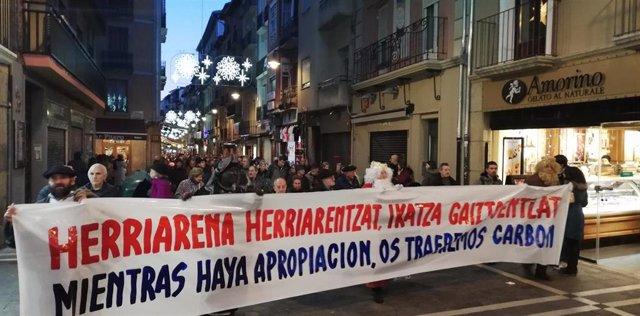 Manifestación en contra de la inmatriculación de bienes por parte de la Iglesia