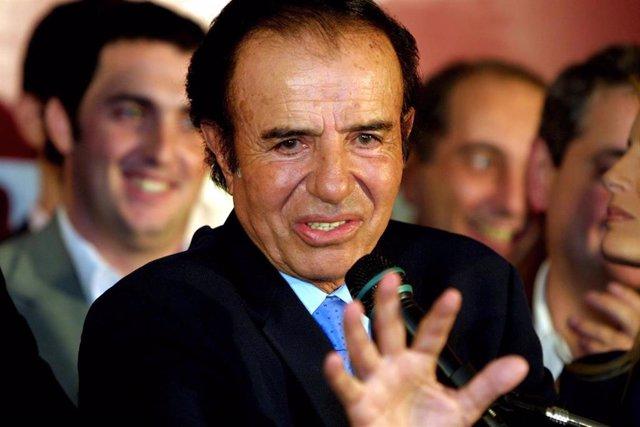 El expresidente de Argentina, Carlos Menem.