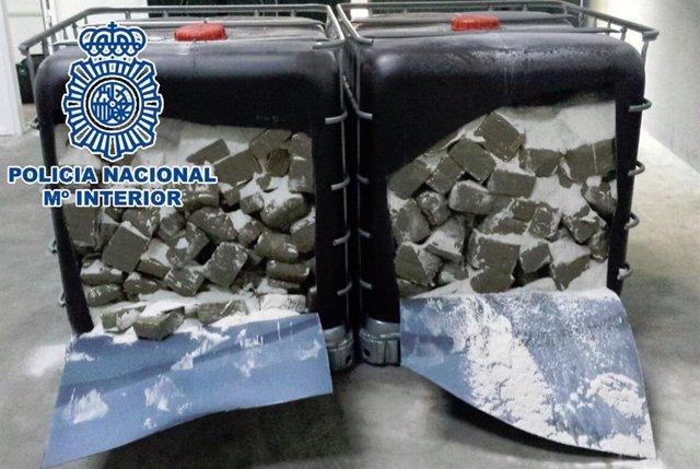 droga incautada en una operación policial