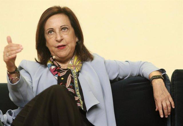 La ministra de Defensa en funcions, Margarita Robles, durant la seva intervenció en el 'Forbes Summit Women 2019', el qual pretén promoure la igualtat i l'apoderament femení, Madrid (Espanya), 2 d'octubre del 2019.