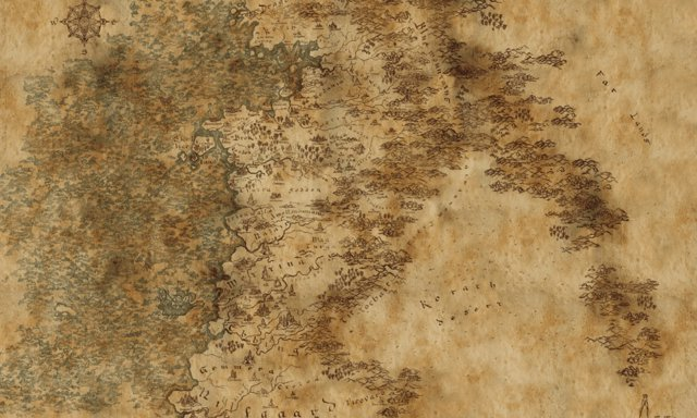 Mapa de El continente de The Witcher
