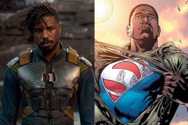 Michael B. Jordan en Black Panther y Calvin Ellis, Superman