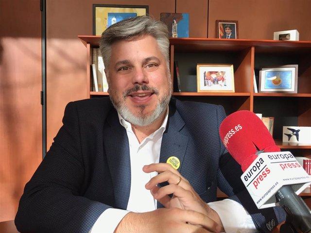 El president de JxCat al Parlament, Albert Batet