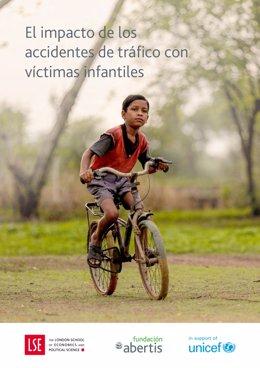 Portada de l'informe 'L'impacte dels accidents de trànsit amb víctimes infantils' encarregat per Fundació Abertis a la London School of Economics and Political Science (LSE) i publicat el 2019
